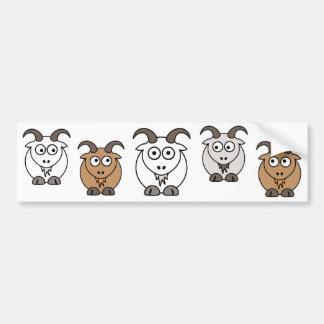 Goat Mix Bumper Sticker