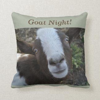Goat Night Barnyard Farm Animal Cushion