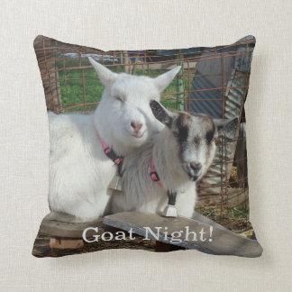 Goat Night Barnyard Farm Animal Throw Pillow