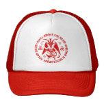 Goat of Mendes Satanic Baphomet Cap [Red] Mesh Hats