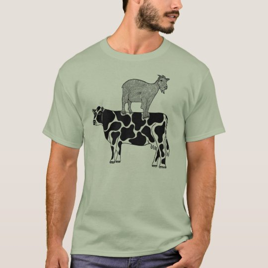 Goat on a Cow #2 T-Shirt