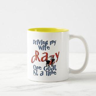 Goat Pet Farm Animal Crazy Wife Goat Dad Husband Coffee Mug