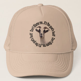 Goat Pet Farm Animal Goats Fault Trucker Hat