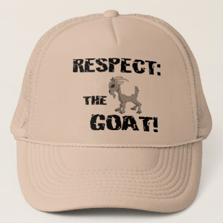 Goat Pet Farm Animal Respect Goat Husband Dad Trucker Hat