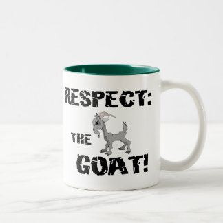 Goat Pet Farm Animal Respect Goat Husband Dad Two-Tone Coffee Mug