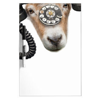 Goat Phone Call Head Dry Erase Whiteboards