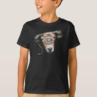 Goat Phone Call Head T-Shirt