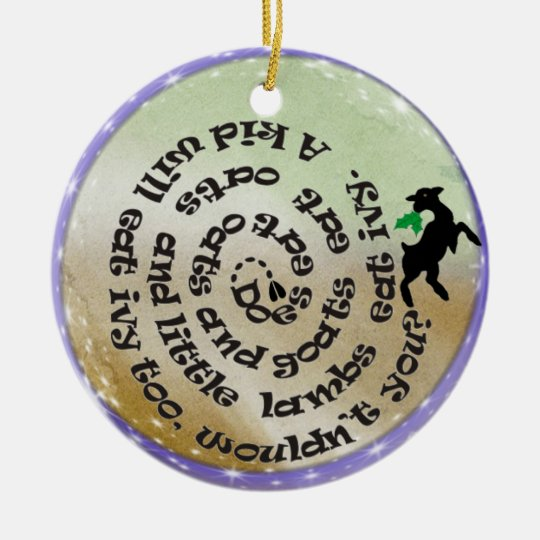 GOAT POEM SONG CHRISTMAS ORNAMENT