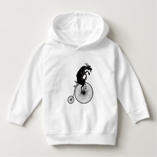 Goat Riding a Penny Farthing Bike Hoodie