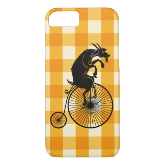 Goat Riding a Penny Farthing Bike iPhone 8/7 Case