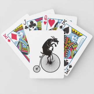 Goat Riding a Vintage Penny Farthing Bike Bicycle Playing Cards