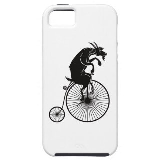 Goat Riding a Vintage Penny Farthing Bike iPhone 5 Cover