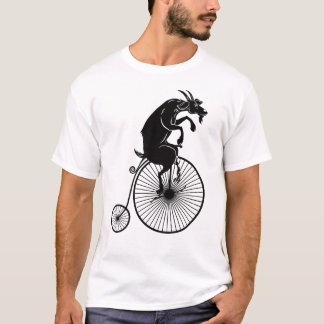 Goat Riding on Vintage Penny Farthing Bike T-Shirt