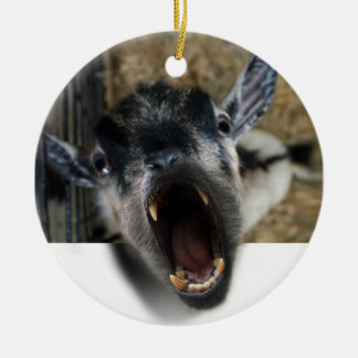 Goat Screaming to Get Out Christmas Tree Ornament