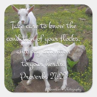 Goat Scripture Sticker