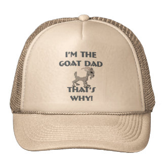 Goat Shirts for Dads Mesh Hats