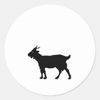 Goat Silhouette Classic Round Sticker