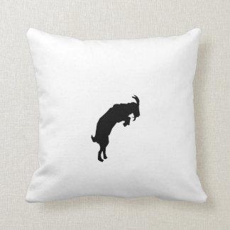 Goat Silhouette Throw Pillow