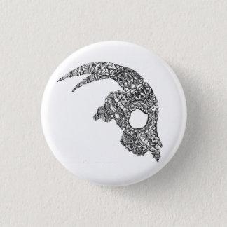 Goat Skull 3 Cm Round Badge