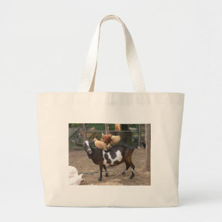 Goat taxi large tote bag