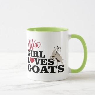 GOAT | This Girl Loves Goats Playful Goat Mug