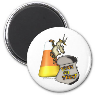 Goat Trick or Treat Halloween Gifts Fridge Magnets