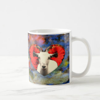 Goat With Heart Coffee Mug