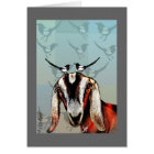 Goat with magpies: friendship, fine art card