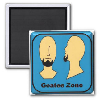 Goatee Zone Square Magnet