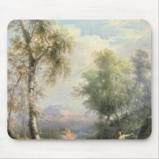 Goatherds in mountainous Spanish landscape Mouse Mat