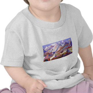 Goats and mountains t shirts