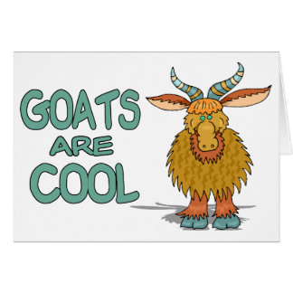 Goats Are Cool Greeting Card