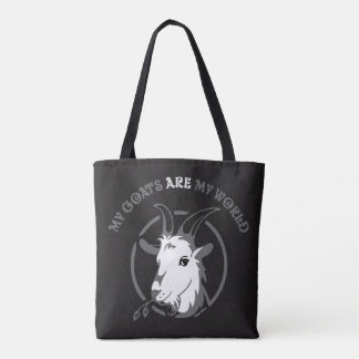 GOATS ARE MY WORLD | by TotallyGoatally™ Tote Bag