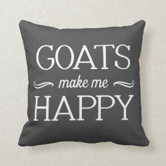 Goats Happy Pillow - Assorted Styles & Colors