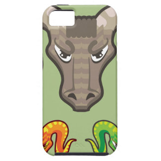 Goats Head Curled Horns Vector iPhone 5 Case