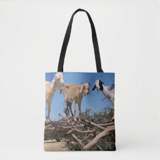 Goats in a Tree Tote Bag