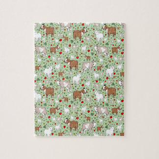 Goats in Green Jigsaw Puzzle