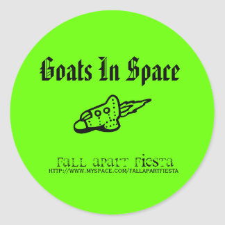 Goats In Space Round Sticker
