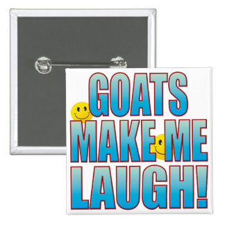 Goats Laugh Life B 15 Cm Square Badge