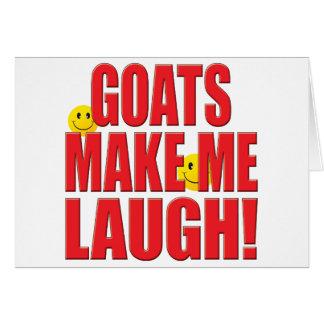 Goats Laugh Life Card