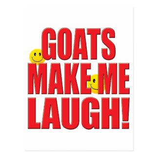 Goats Laugh Life Postcard