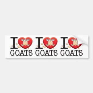 Goats Love Man Bumper Sticker