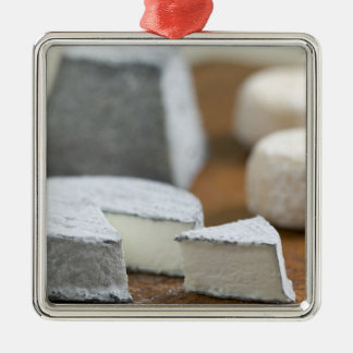 Goat's milk cheeses - Selles-sur-Cher, Silver-Colored Square Decoration