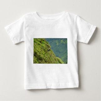 Goats on a very steep hillside baby T-Shirt