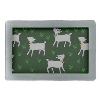 goats rectangular belt buckle