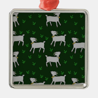 goats Silver-Colored square decoration