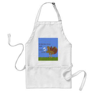 Gobble gobble adult apron