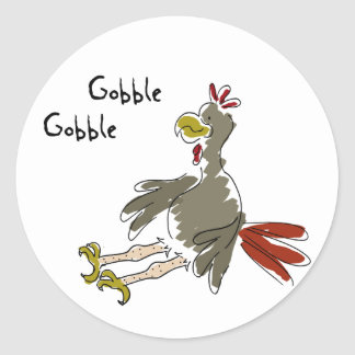 Gobble Gobble Classic Round Sticker