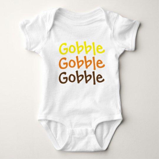 Gobble Gobble Gobble Baby Jersey Bodysuit