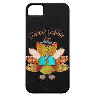 Gobble Gobble Patterned Pilgrim Turkey iPhone 5 Case